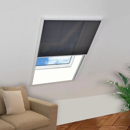 vidaXL Raamhor plissé 60x80 cm aluminium