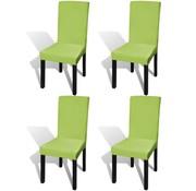vidaXL Stoelhoes stretch recht 4 stuks groen