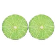 vidaXL Kussens met fruitprint limoen 2 st
