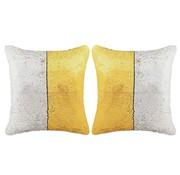 vidaXL Sierkussenset met pailletten 60x60 cm goud en zilver 2-delig