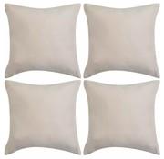 vidaXL Kussenhoezen 4 stuks beige imitatie suède 40x40 cm polyester