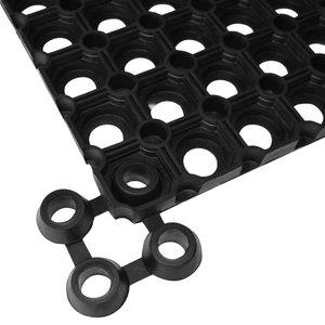 vidaXL Matverbinders rubber zwart 10 st
