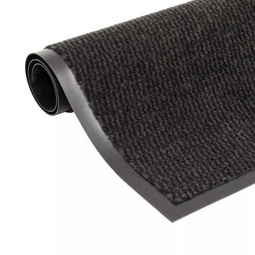 vidaXL Droogloopmat rechthoekig getuft 40x60 cm zwart