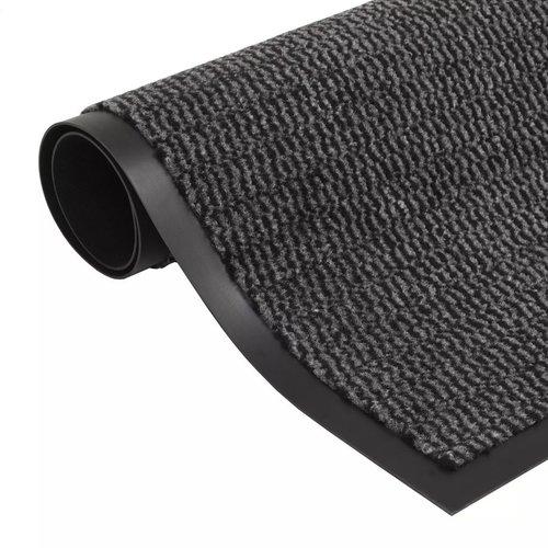 vidaXL Droogloopmat rechthoekig getuft 40x60 cm antraciet