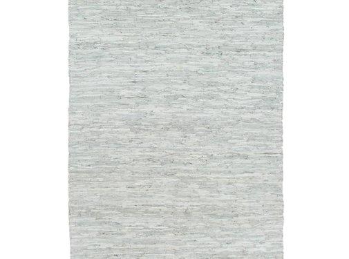 vidaXL Vloerkleed chindi handgeweven 80x160 cm leer lichtgrijs