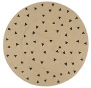 vidaXL Vloerkleed handgemaakt met driehoek print 90 cm jute
