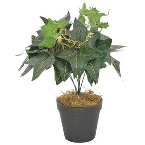 vidaXL Kunstplant met pot klimop 45 cm groen