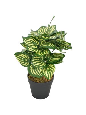 vidaXL Kunstplant met pot watermeloenplant 45 cm groen