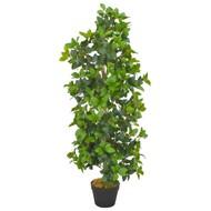 Kunstplant met pot laurierboom 120 cm groen
