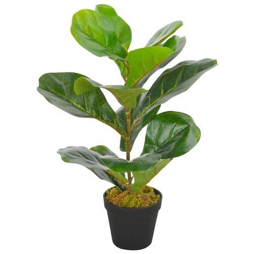 vidaXL Kunstplant met pot vioolbladplant 45 cm groen