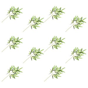 vidaXL Kunstbladeren bamboe 10 st 60 cm groen