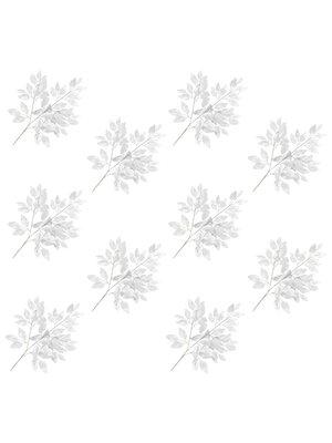vidaXL Kunstbladeren vijg 10 st 65 cm zilver