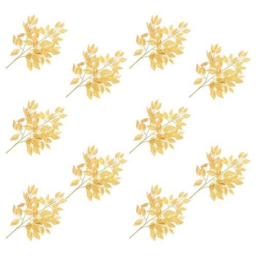 vidaXL Kunstbladeren vijg 10 st 65 cm goud