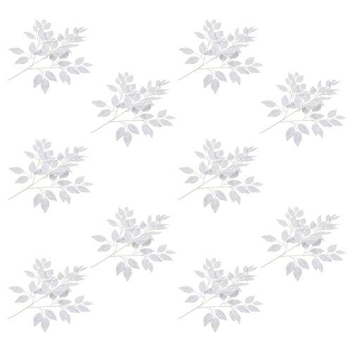 vidaXL Kunstbladeren vijg 10 st 65 cm wit