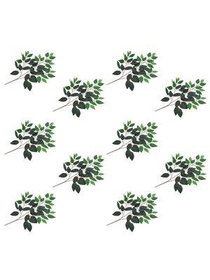vidaXL Kunstbladeren vijg 10 st 65 cm groen