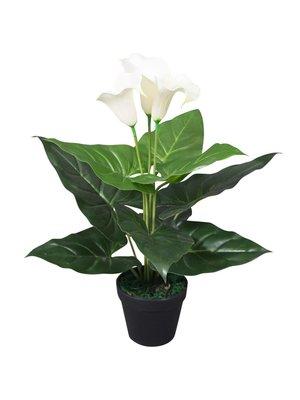 vidaXL Kunst calla lelie plant met pot 45 cm wit