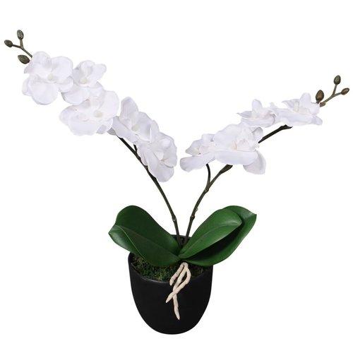 vidaXL Kunst orchidee plant met pot 30 cm wit