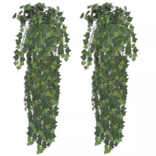 vidaXL Kunstplanten klimop 90 cm groen 2 st