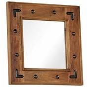 vidaXL Spiegel 50x50 cm massief acaciahout