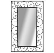 vidaXL Wandspiegel rechthoekig 50x80 cm zwart