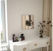 vidaXL Wandspiegel vierkant 40x40 cm glas