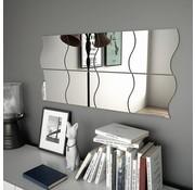 vidaXL Wandspiegels golfvormig 20x20 cm glas 8 st
