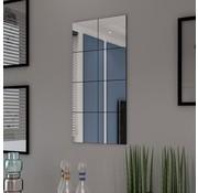 vidaXL Spiegeltegels frameloos glas 8 st 20,5 cm
