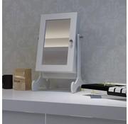vidaXL Sieradenkastje met spiegel (tafelmodel)