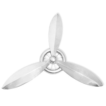 Propeller voor aan de muur aluminium zilver 152 cm