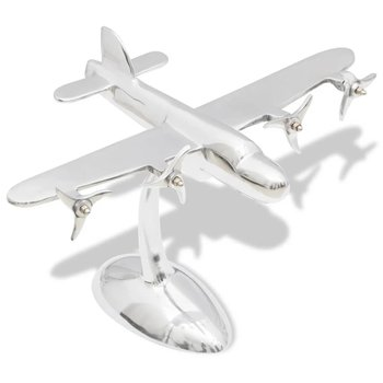 Aluminium tafeldecoratie modelvliegtuig