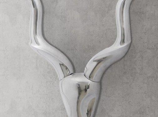 vidaXL Muurdecoratie Gazellenkop Zilverkleurig 61 cm