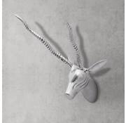 vidaXL Wanddecoratie gazellekop 33 cm aluminium zilverkleurig