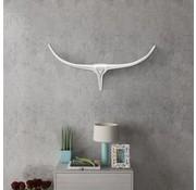 vidaXL Stierenkop voor aan de muur aluminium 75 cm zilverkleurig