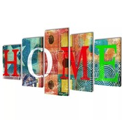 vidaXL Canvasdoeken kleurrijk huis 100 x 50 cm