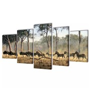vidaXL Canvasdoeken Zebra's 100 x 50 cm