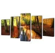 vidaXL Canvasdoeken Bos 100 x 50 cm