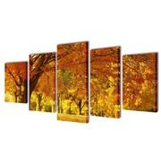 vidaXL Canvasdoeken esdoorn 100 x 50 cm