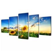 vidaXL Canvasdoeken zonnebloem 100 x 50 cm