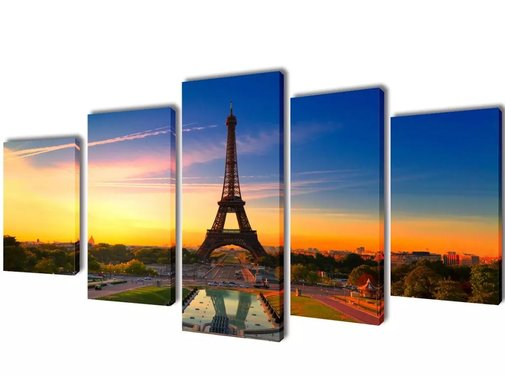 vidaXL Canvasdoeken Eiffeltoren 100 x 50 cm