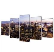 vidaXL Canvasdoeken New York in vogelperspectief 100 x 50 cm
