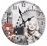 vidaXL Wandklok vintage-stijl Marilyn Monroe 30 cm