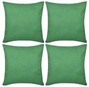 vidaXL Kussenhoezen katoen 80 x 80 cm groen 4 stuks