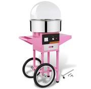 vidaXL Professionele suikerspinmachine met kar en deksel