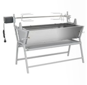 vidaXL Draaispit barbecue ijzer en roestvrij staal