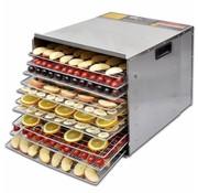 vidaXL Voedseldroger met 10 stapelbare lades (roestvrij staal)