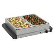 vidaXL Buffetwarmer 200 W 2x2,5 L roestvrij staal