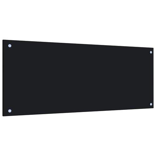 vidaXL Spatscherm keuken 100x40 cm gehard glas zwart