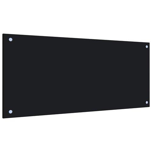 vidaXL Spatscherm keuken 90x40 cm gehard glas zwart