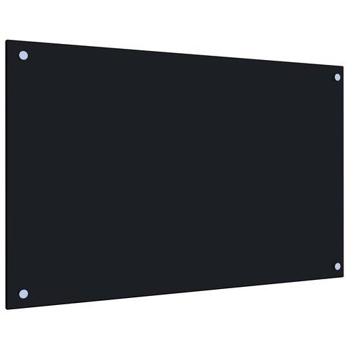 vidaXL Spatscherm keuken 80x50 cm gehard glas zwart