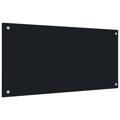 vidaXL Spatscherm keuken 80x40 cm gehard glas zwart